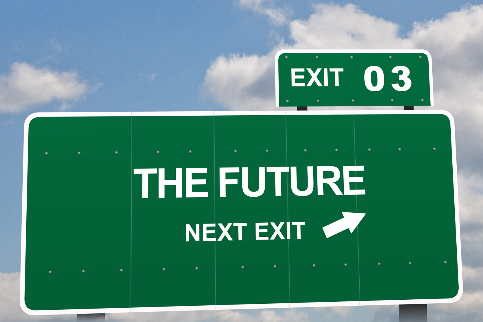 Purchased image - The Future Next Exit Fotolia_6549912_M