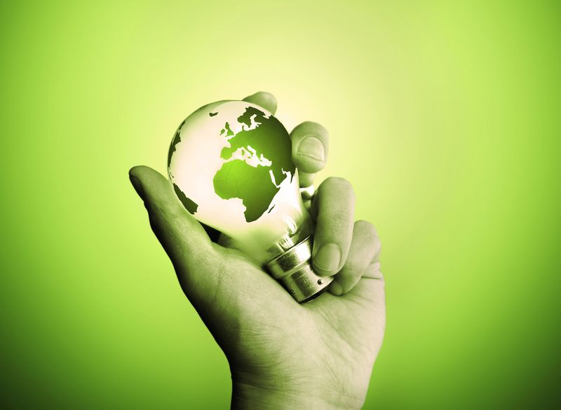 Purchased - Green Lightbulb - World - Fotolia_3774371_M