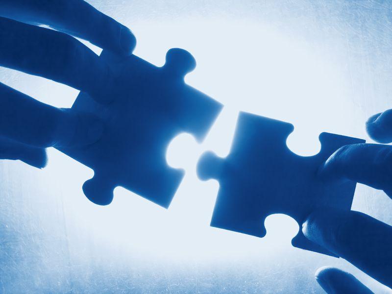 Purchased - Blue Puzzle Pieces - Fotolia_126462_M